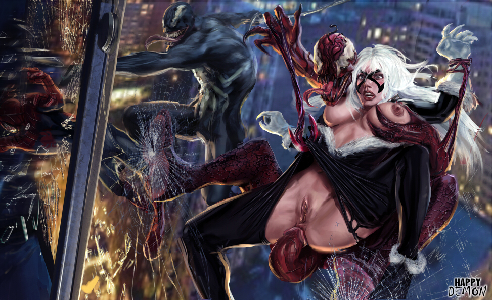 cat shadows spider of symbiote man web black Starfire and raven kiss fanfiction
